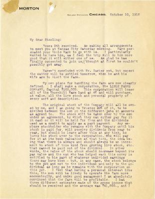 1916/10/10: Joy Morton to Sterling Morton