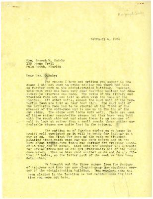 1935/02/04: [Clarence Godshalk?] to Jean Cudahy
