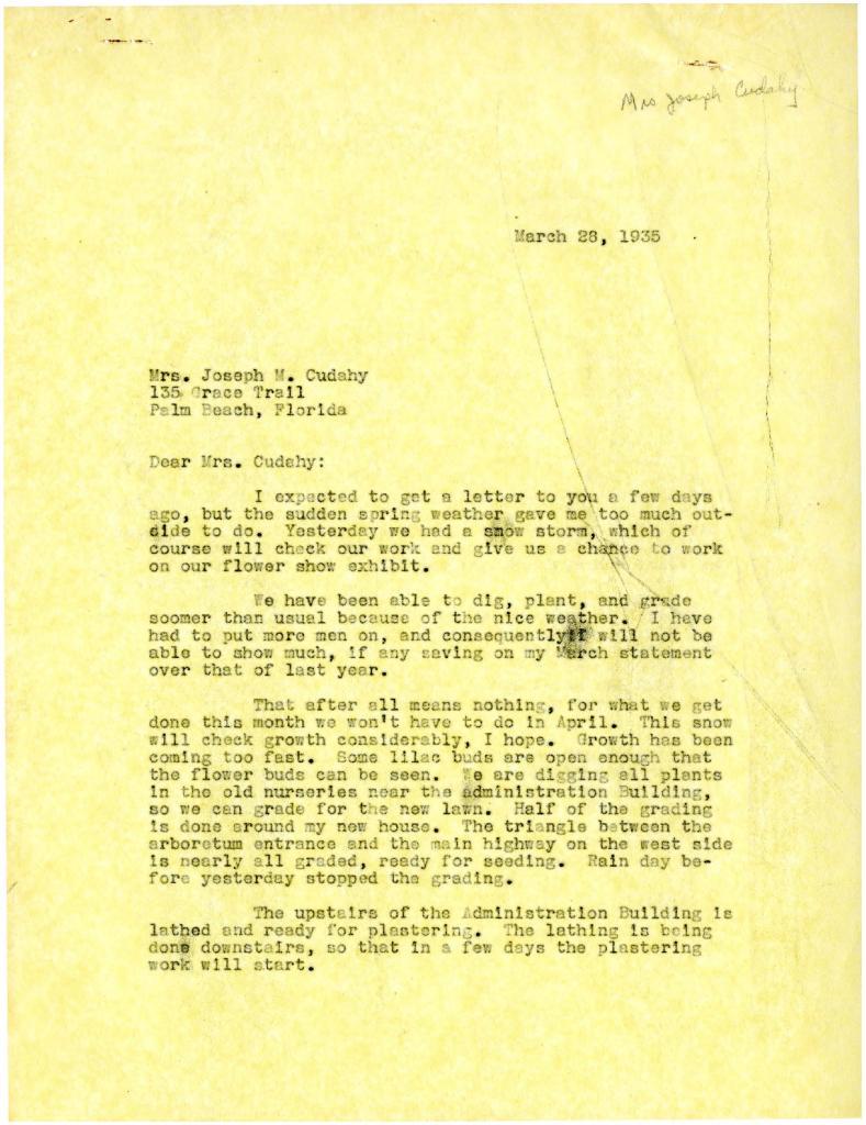 1935/03/28: [Clarence Godshalk?] to Jean Cudahy