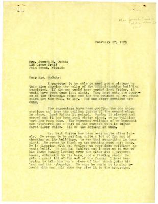 1935/02/27: [Clarence Godshalk?] to Jean Cudahy