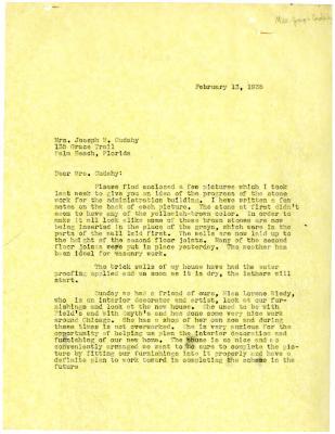 1935/02/13: Clarence Godshalk to Jean Cudahy