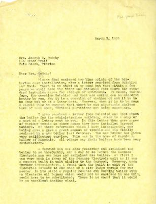 1935/03/02: [Clarence Godshalk?] to Jean Cudahy