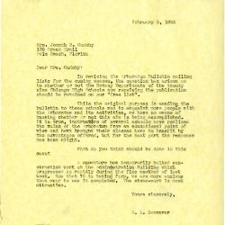 1935/02/05: E. L. Kammerer to Mrs. Jean Cudahy