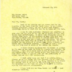 1935/02/13: [Clarence Godshalk?] to Joseph Cudahy