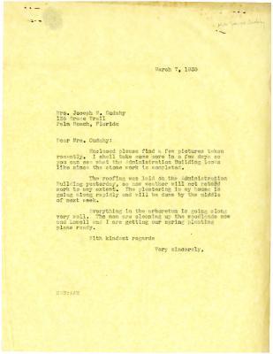 1935/03/07: [Clarence Godshalk?] to Jean Cudahy