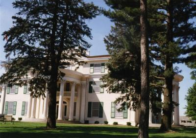 Arbor Lodge State Historical Park and Mansion, front exterior, side view