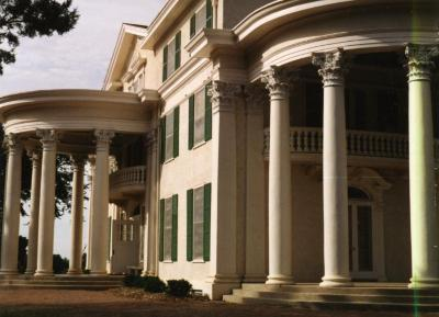 Arbor Lodge State Historical Park and Mansion, exterior, two rotunda porticoes