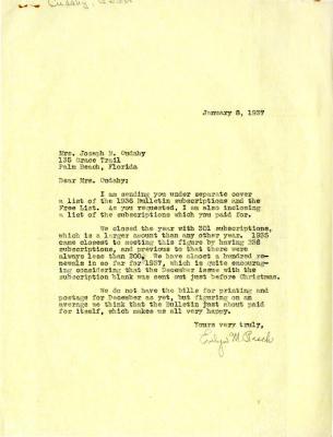 1937/01/08: Evelyn M. Rasch to Jean Cudahy