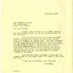 1937/01/06: Clarence Godshalk to Joseph Cudahy