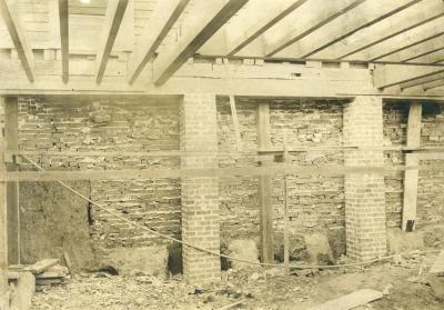 Arbor Lodge remodeling construction, new basement
