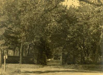 Arbor Lodge entrance drive