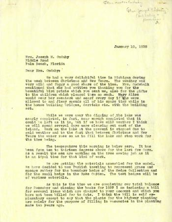 1938/01/10:  Clarence Godshalk to Jean Cudahy