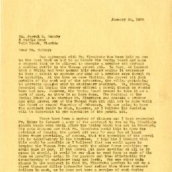 1939/01/24: Clarence Godshalk to Joseph Cudahy