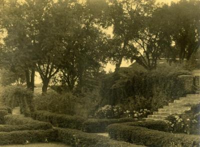 Arbor Lodge gardens and surrounding landscape, garden area