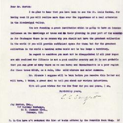 1921/12/31: C. S. Sargent to Joy Morton