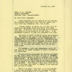 1922/01/12: Joy Morton to C. S. Sargent