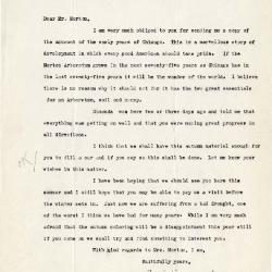1923/09/21:  C. S. Sargent to Joy Morton