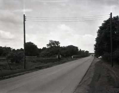Route 53 looking south from DuPage River