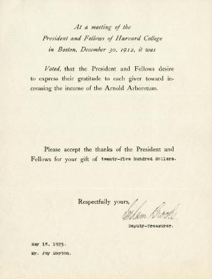 1923/05/18: Graham Brooks to Joy Morton