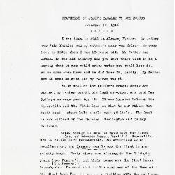Statement of Joseph Yackley to Joy Morton