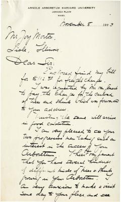1923/11/08: Christian van der Voet to Joy Morton