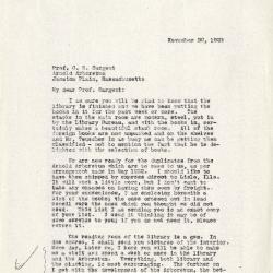 1923/11/20:  Joy Morton to C. S. Sargent