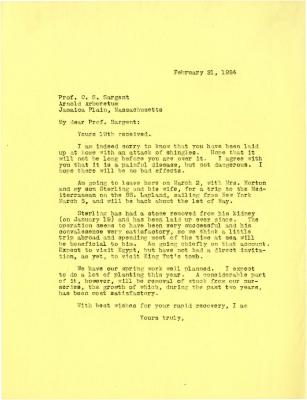 1924/02/21: Joy Morton to C. S. Sargent