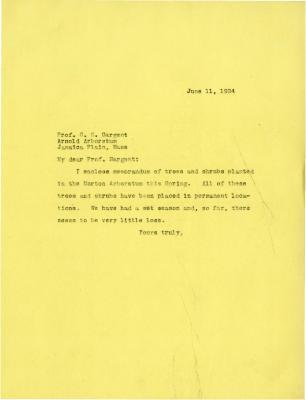 1924/06/11: Joy Morton to C. S. Sargent