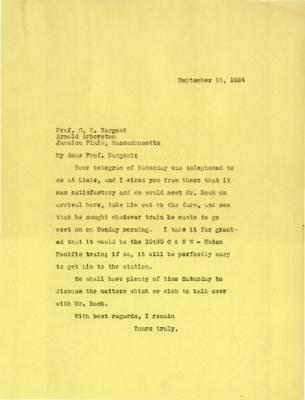1924/09/15: Joy Morton to C. S. Sargent