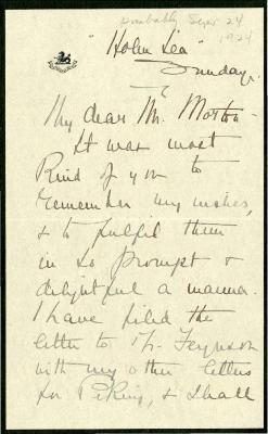 [1924/09/24?]: M. S. Potter to Joy Morton