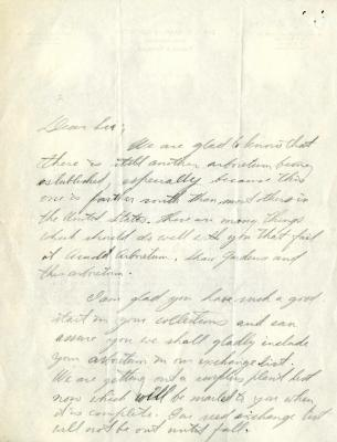 1930/06/12: E. Lowell Kammerer to Sir [A.F. Sanford]
