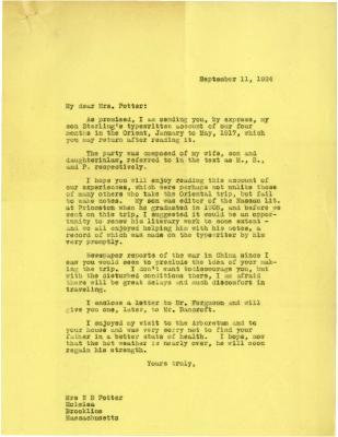 1924/09/11: Joy Morton to Mrs. N. B. Potter