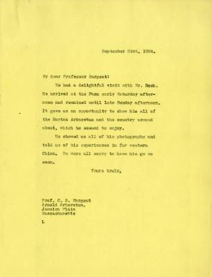 1924/09/23: [Joy Morton] to C. S. Sargent