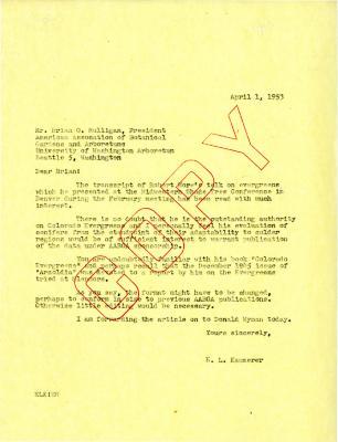1953/04/01: E.L. Kammerer to Brian O. Mulligan