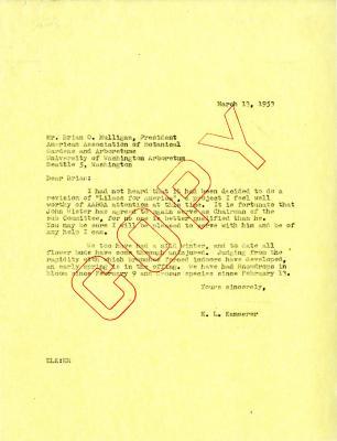 1953/03/13: E.L. Kammerer to Brian O. Mulligan