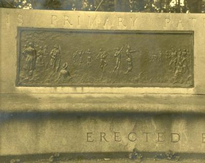 Arbor Lodge album: J. Sterling Morton Monument, bench detail
