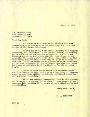 1939/04/04: E. Lowell Kammerer to Franklin Cook