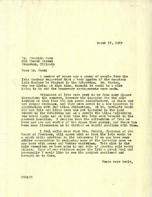 1939/03/17: [C.E. Godshalk?] to Franklin Cook