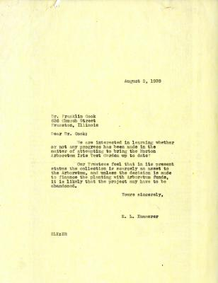 1939/08/02: E. Lowell Kammerer to Franklin Cook