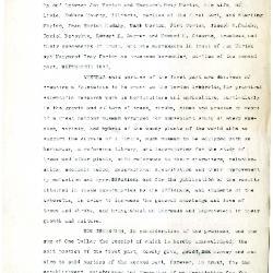Preliminary Draft of The Morton Arboretum Indenture