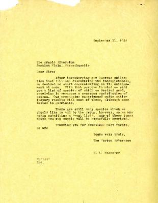 1934/09/11: E.L. Kammerer to Sirs [Arnold Arboretum]