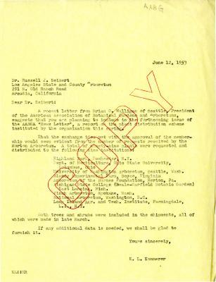 1953/07/12: E. Lowell Kammerer to Dr. Russell J. Seibert