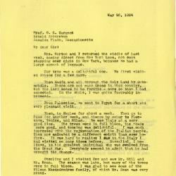 1924/05/26:  Joy Morton to C. S. Sargent