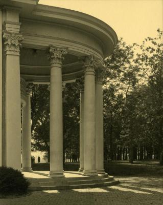 Arbor Lodge album: rotunda portico, side view