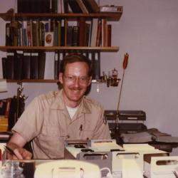 Ed Hedborn at desk
