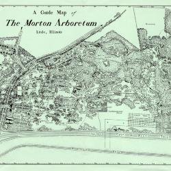A Guide Map of The Morton Arboretum, Lisle, Illinois [1958?]