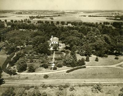 Aerial view of Arbor Lodge