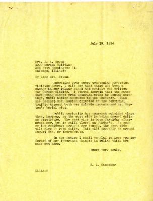 1934/07/19: E. L. Kammerer to Mrs. N.A. Bryan