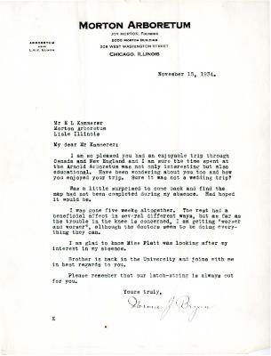 1934/11/15: Norma J. Bryan to E. L. Kammerer