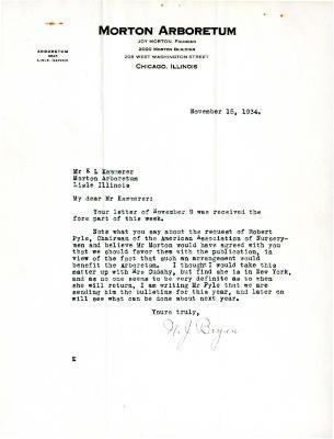 1934/11/15: N.J. Bryan to E.L. Kammerer
